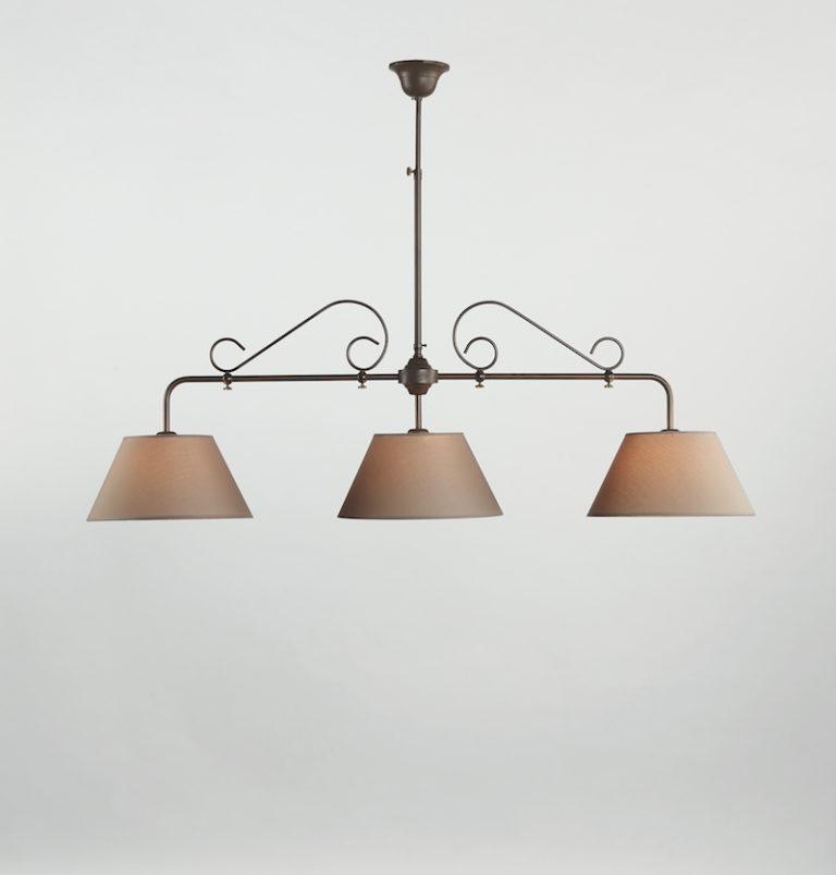 0191-3F-SHA-MN - Kroonluchter - Landelijke meubels en verlichting - Sarah Mo