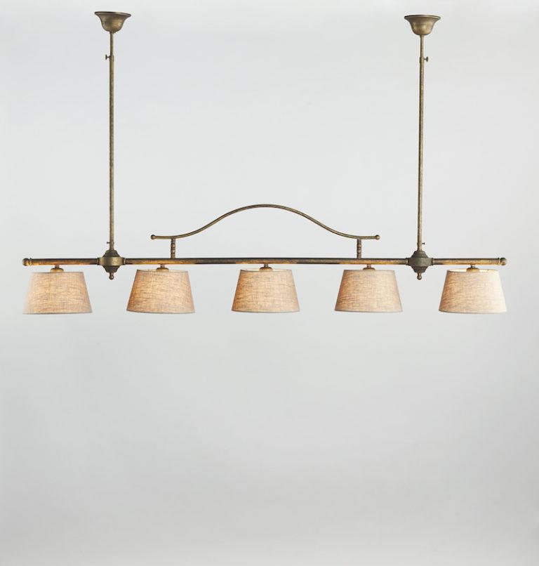 0250-5F-SHA-AS - Kroonluchter - Landelijke meubels en verlichting - Sarah Mo