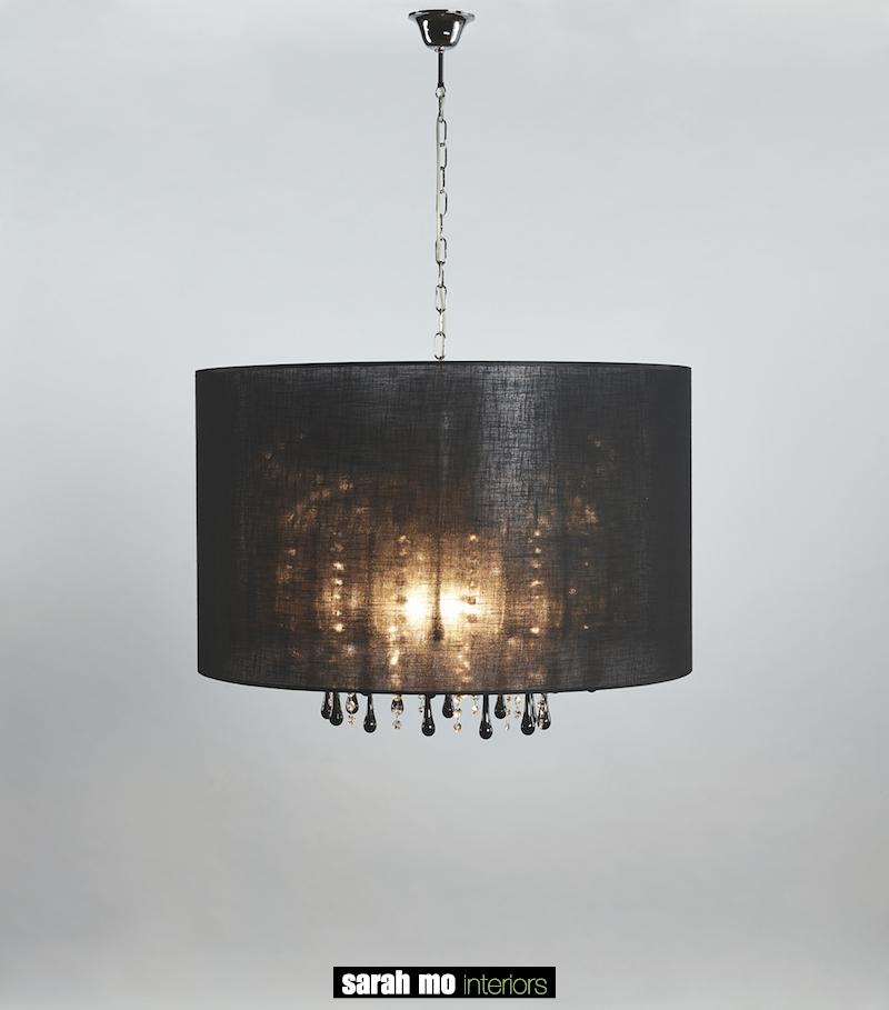 131-60-5-CRO + DROP BLACK - Kroonluchter - Landelijke meubels en verlichting - Sarah Mo