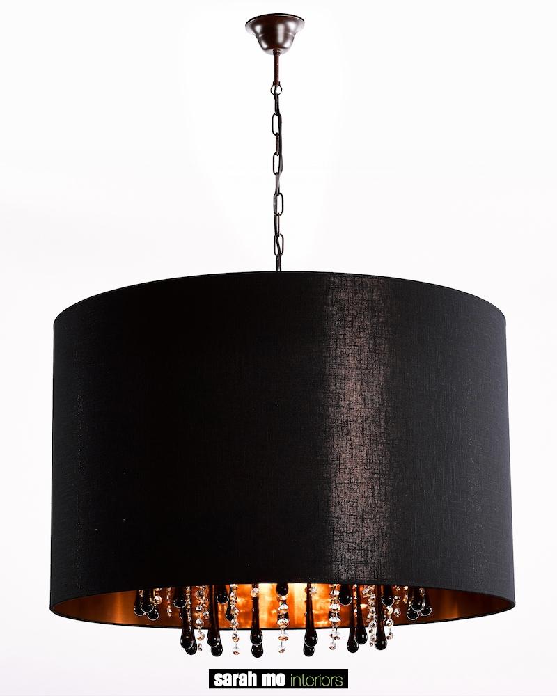 131-60-5-RU + DROP BLACK - Kroonluchter - Landelijke meubels en verlichting - Sarah Mo