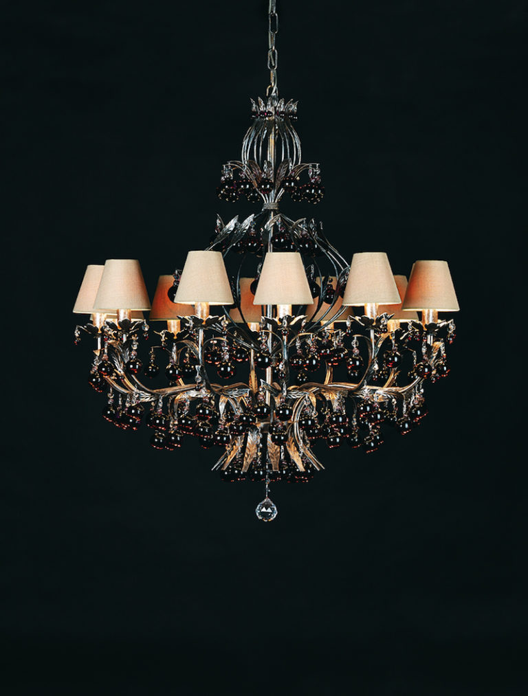 1310-12-ARG ANT + BALL AMETHIST - Kroonluchter - Landelijke meubels en verlichting - Sarah Mo