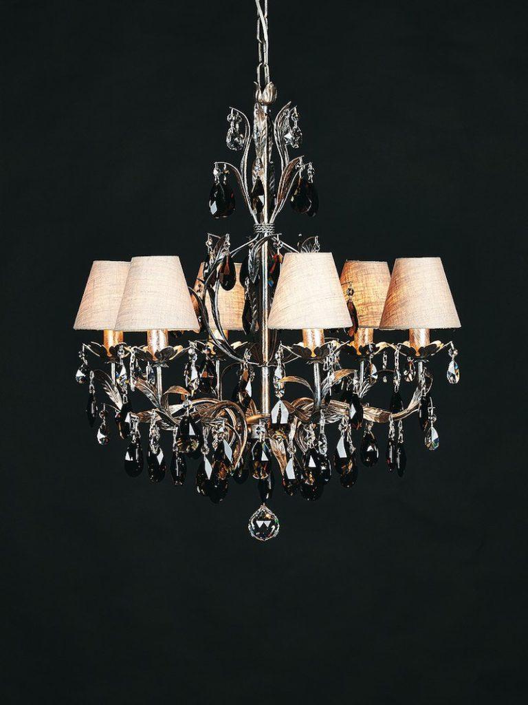 1310-6-ARG ANT + FUME - Kroonluchter - Landelijke meubels en verlichting - Sarah Mo