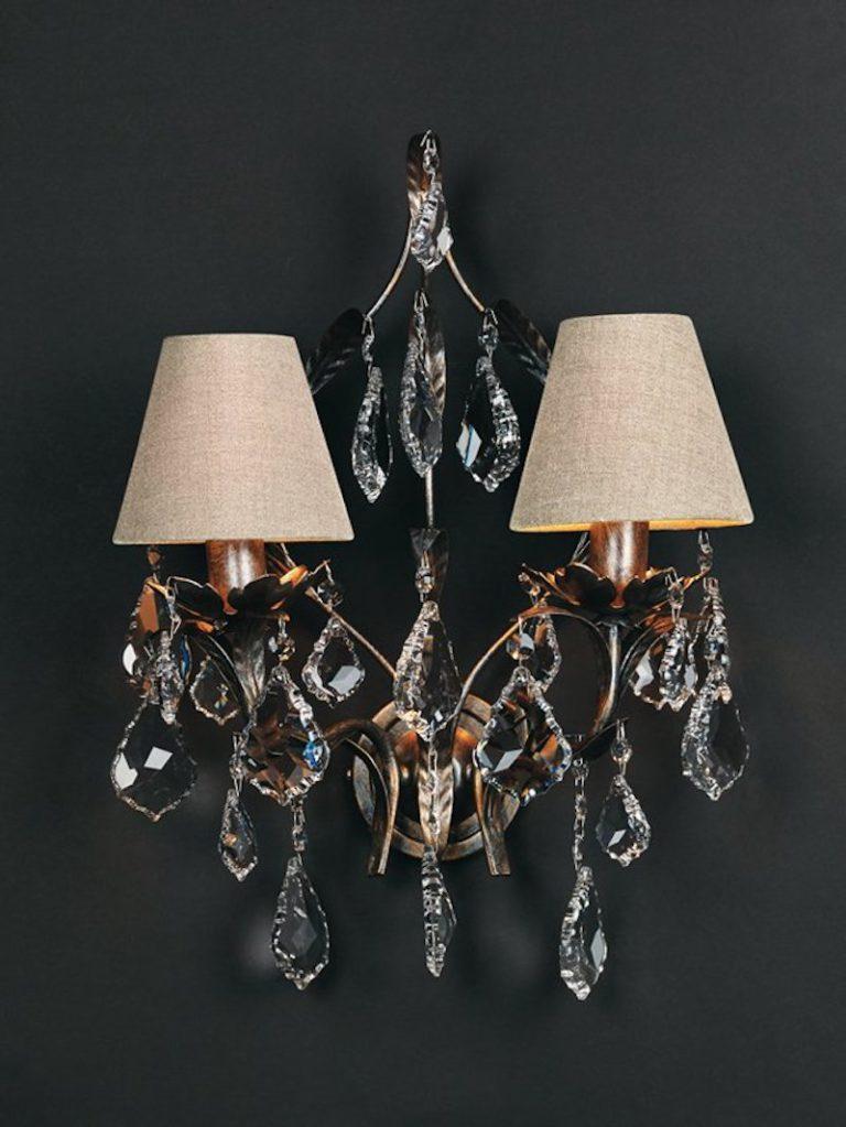 1310-A2-ARG ANT + VIOLIN - Lampenkap - Landelijke meubels en verlichting - Sarah Mo