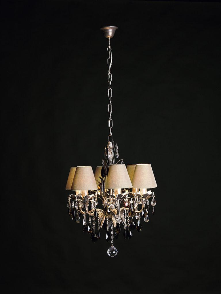 1310-6-PIC-ARG ANT + FUME - Kroonluchter - Landelijke meubels en verlichting - Sarah Mo
