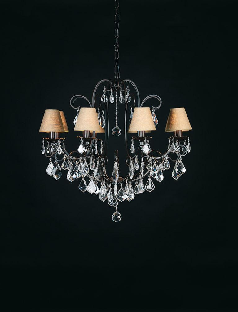 1510-8-RUST + VIOLIN - Kroonluchter - Landelijke meubels en verlichting - Sarah Mo