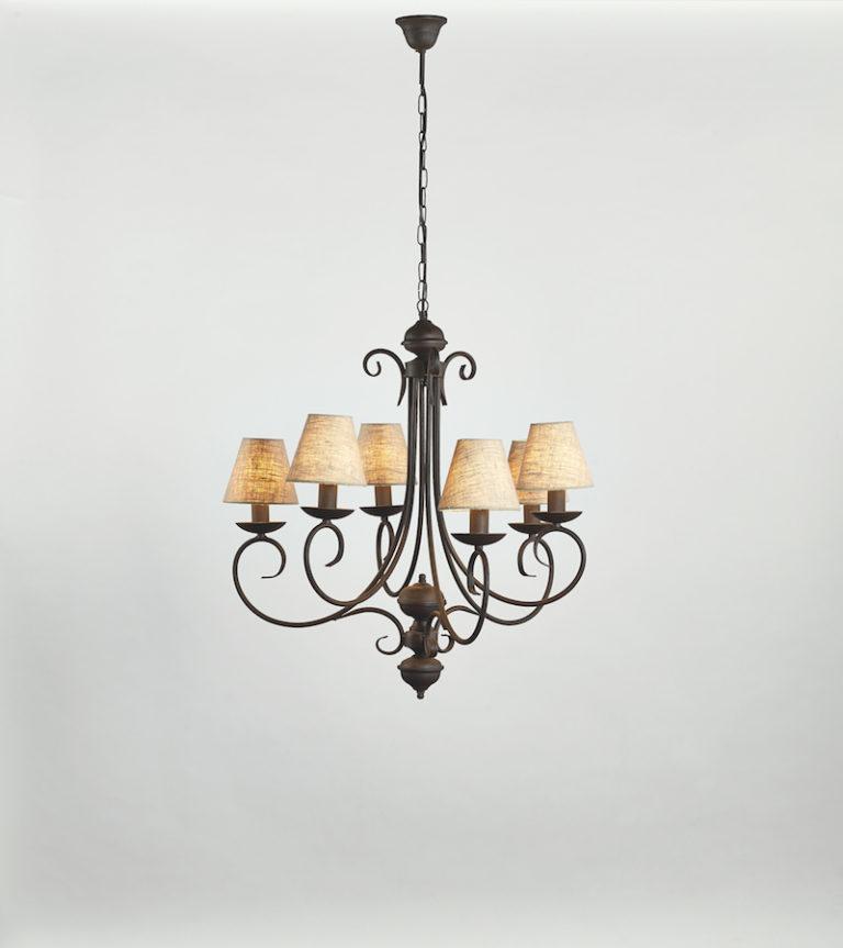 3294-3+3 RU - Kroonluchter - Landelijke meubels en verlichting - Sarah Mo