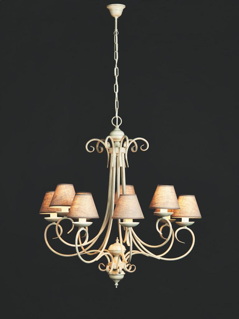3294-6+3-AVGR - Kroonluchter - Landelijke meubels en verlichting - Sarah Mo