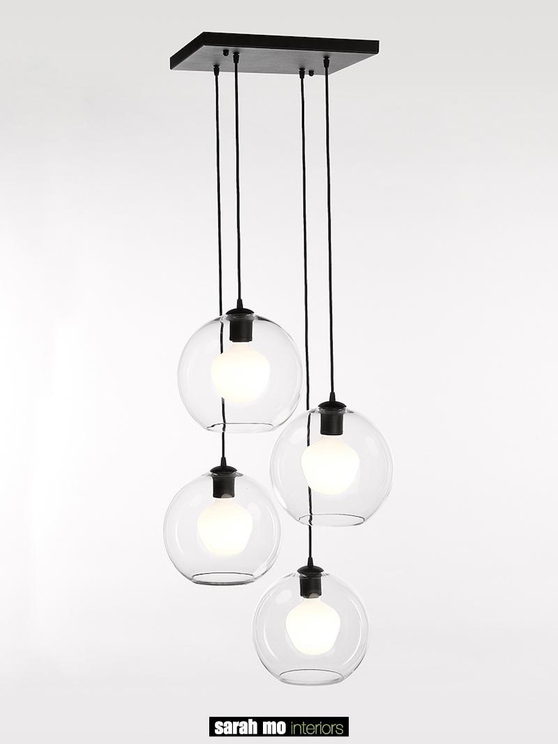 4040-PL4-SQ-GL-NE - Verlichting - Landelijke meubels en verlichting - Sarah Mo