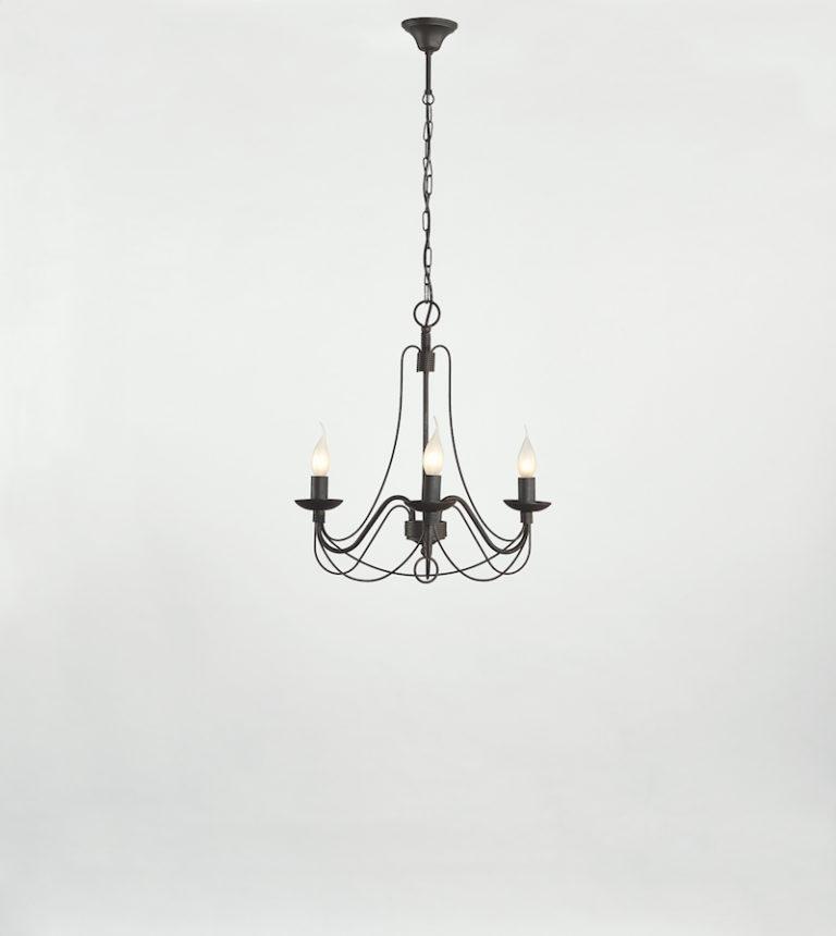 604-3 RU - Kroonluchter - Landelijke meubels en verlichting - Sarah Mo