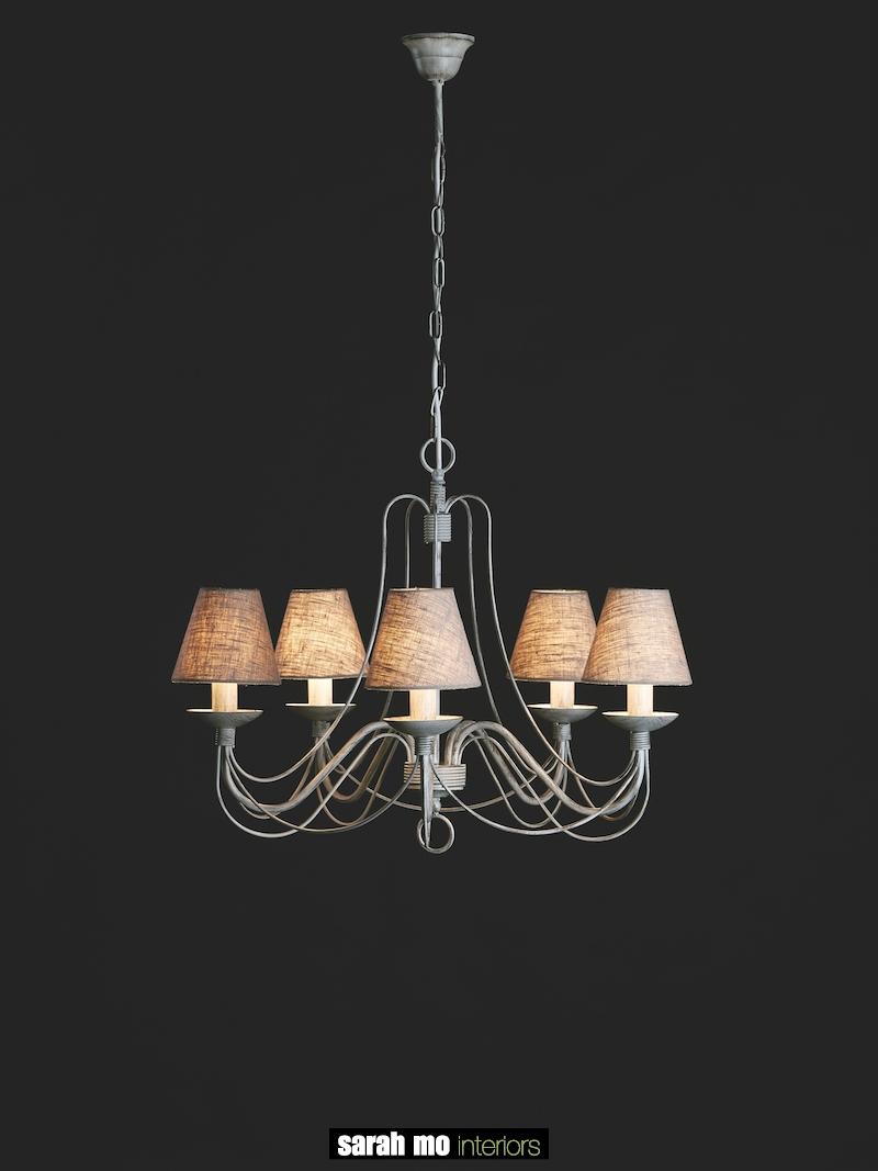 604-5AVNE - Kroonluchter - Landelijke meubels en verlichting - Sarah Mo