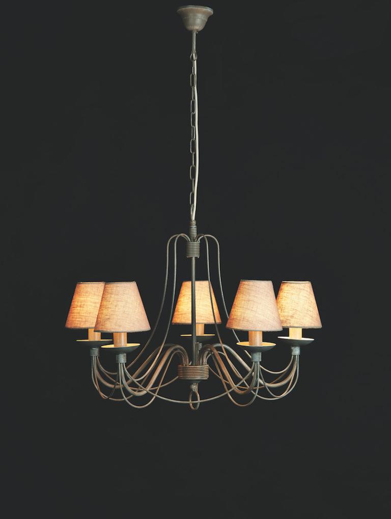 604-5-GR - Kroonluchter - Landelijke meubels en verlichting - Sarah Mo