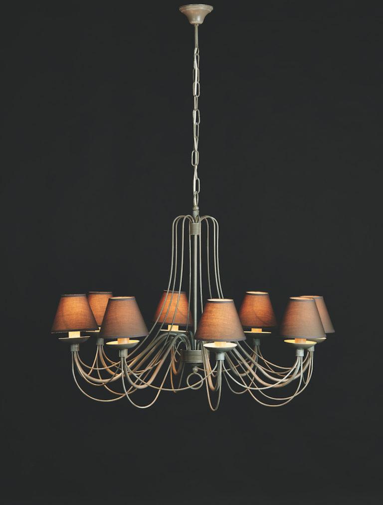 604-8-GR - Kroonluchter - Landelijke meubels en verlichting - Sarah Mo