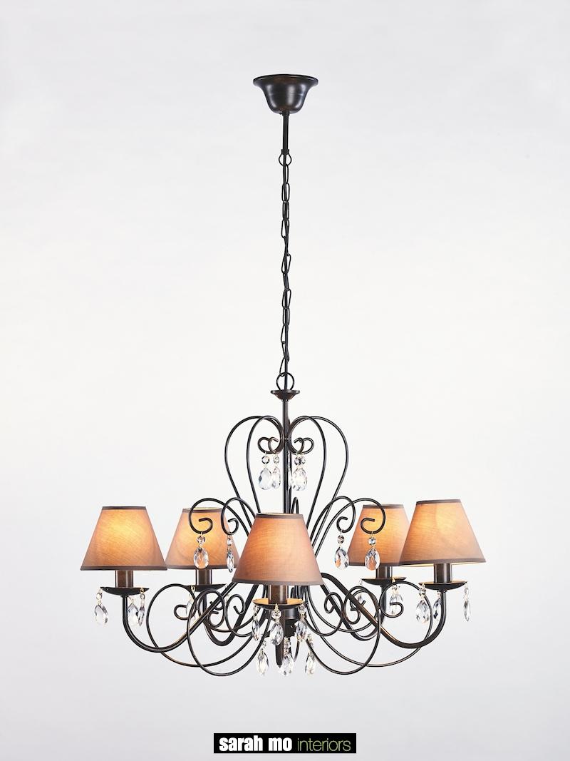 655-5-RU - Kroonluchter - Landelijke meubels en verlichting - Sarah Mo