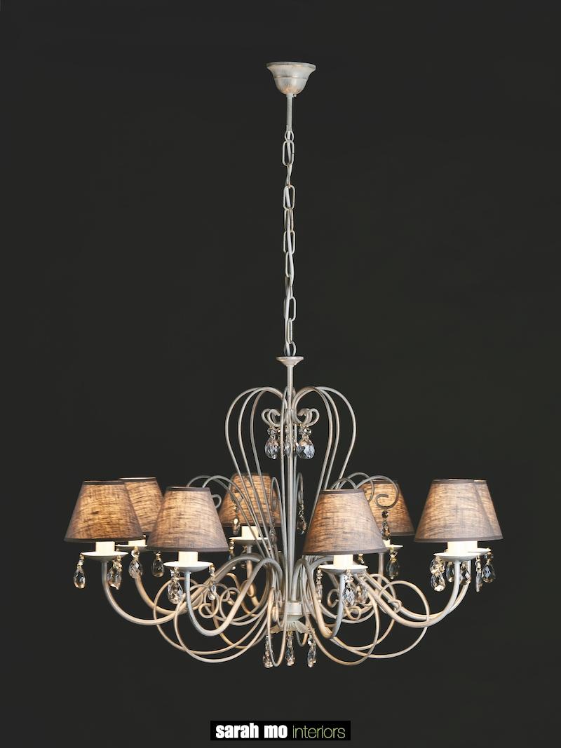 655-8 AV ORO - Kroonluchter - Landelijke meubels en verlichting - Sarah Mo