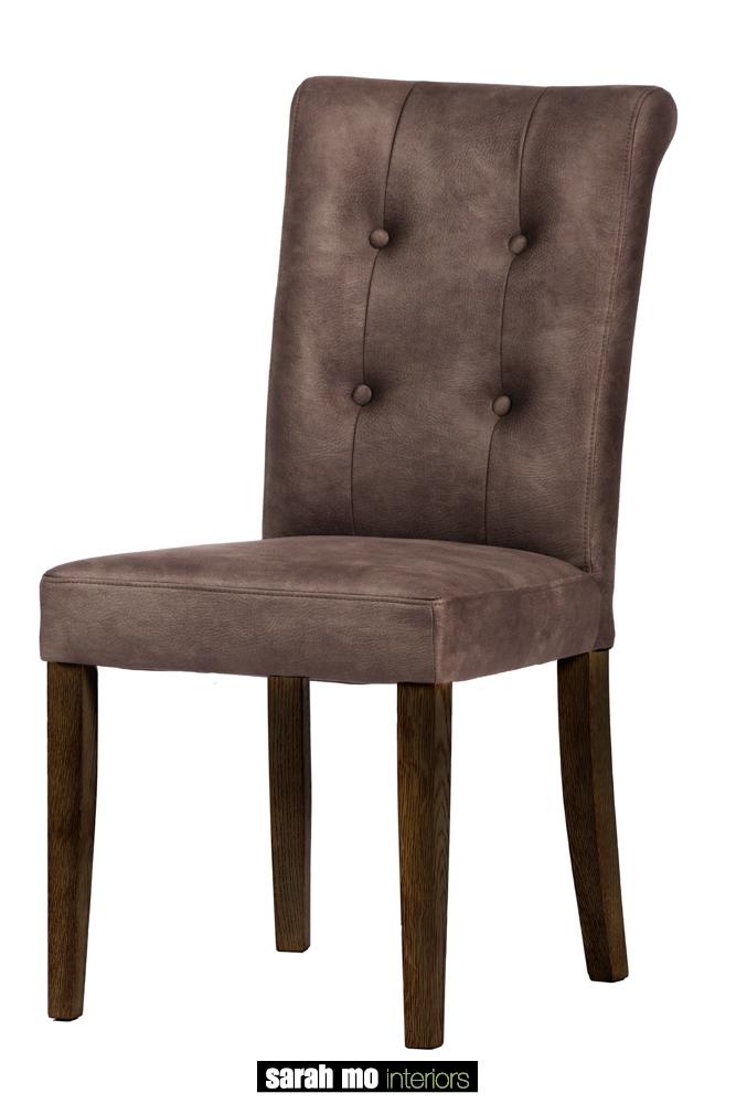 Eetkamerstoel met knopen - Stoel - Landelijke meubels en verlichting - Sarah Mo