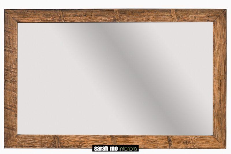 Spiegel in eik - Badkamer - Landelijke meubels en verlichting - Sarah Mo