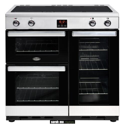 BEL-COOKCENTRE-90EI-STA - Belling Cookcentre 90Ei 90cm elektrische inductie kookplaat - Landelijke meubels en verlichting - Sarah Mo