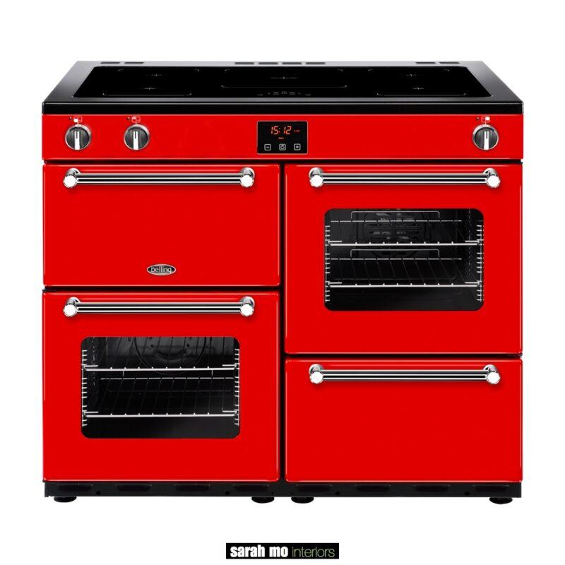 BEL-KENSINGTON-100EI-RED - BELLING Kensington 100Ei elektrische inductie kookplaat - Landelijke meubels en verlichting - Sarah Mo