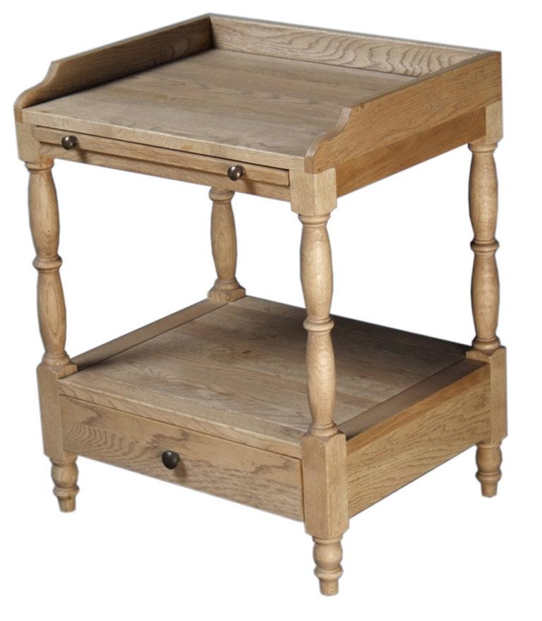 Nachtkastje in eik grijs - Nachtkastje - Landelijke meubels en verlichting - Sarah Mo
