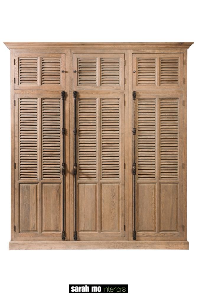 Louvre kleerkast met 3 deuren en 3 compartimenten - Garderobe - Landelijke meubels en verlichting - Sarah Mo