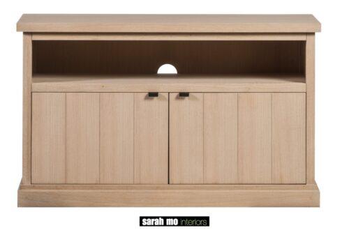 Tv-dressoir in eik natuur met 2 deuren - Dressoir - Landelijke meubels en verlichting - Sarah Mo