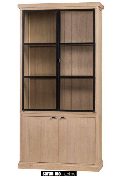 Vitrine 2 deuren in eik natuur - Vitrine - Landelijke meubels en verlichting - Sarah Mo