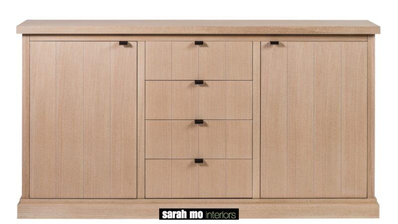 Dressoir in eik natuur - Ladenkast - Landelijke meubels en verlichting - Sarah Mo