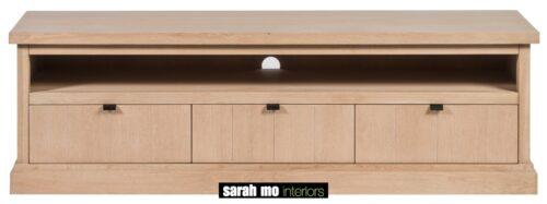 Tv-dressoir in eik natuur - Lade - Landelijke meubels en verlichting - Sarah Mo