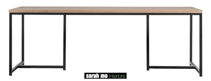 Tafel met tablet in eik natuur en ijzeren onderstel - Tafel - Landelijke meubels en verlichting - Sarah Mo