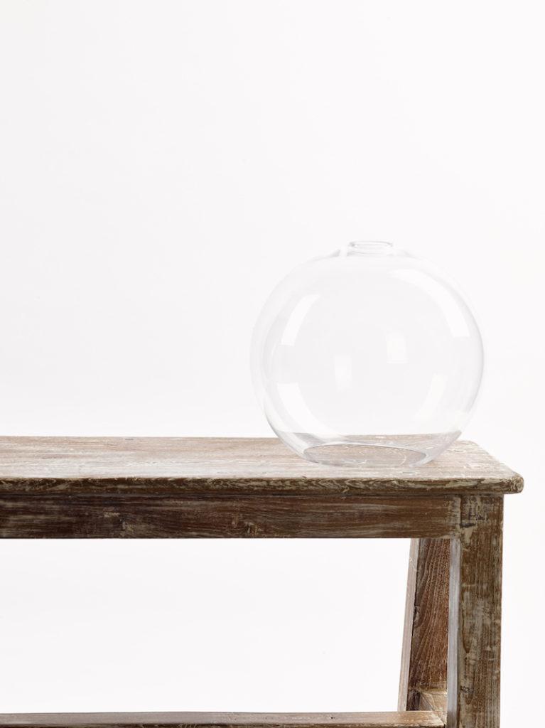 GLAS BOL GROOT HELDER - Salontafel - Landelijke meubels en verlichting - Sarah Mo