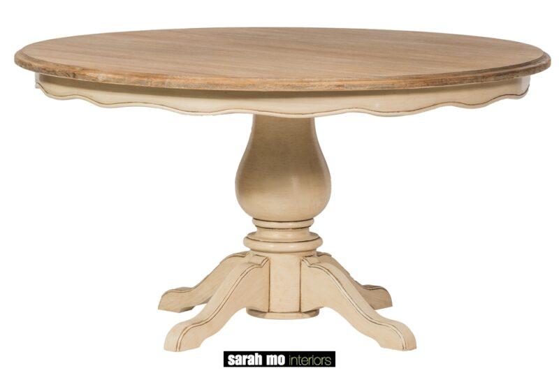 Ronde eetkamertafel met blad in teak - Tafel - Landelijke meubels en verlichting - Sarah Mo