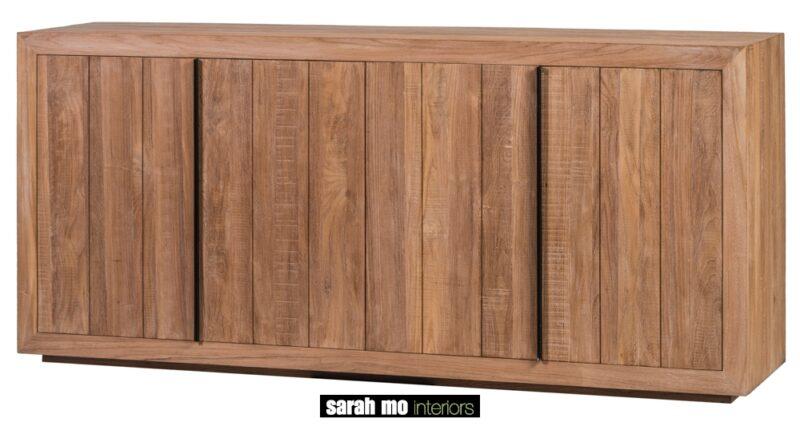 Dressoir in teak met 4 deuren - Dressoir - Landelijke meubels en verlichting - Sarah Mo