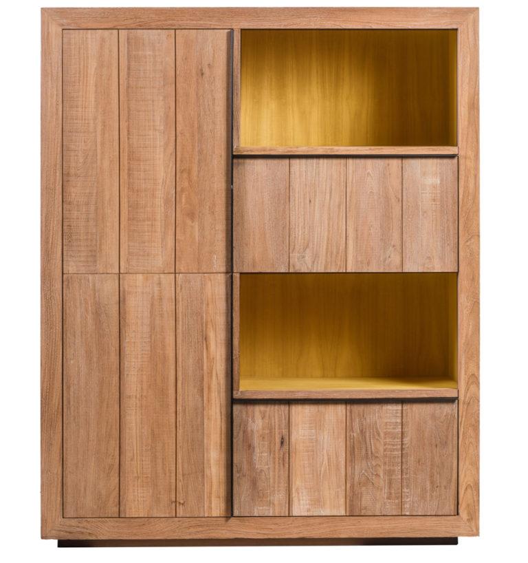 Barkast met 2 deuren, 2 lades en ledverlichting - Lade - Landelijke meubels en verlichting - Sarah Mo