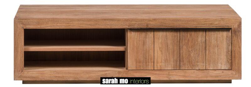 Salontafel met 2 lades en blad in teak - Lade - Landelijke meubels en verlichting - Sarah Mo