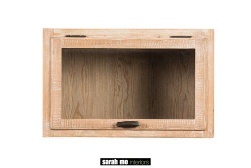Hangkast in old pine met 1 deur in glas - Keuken - Landelijke meubels en verlichting - Sarah Mo
