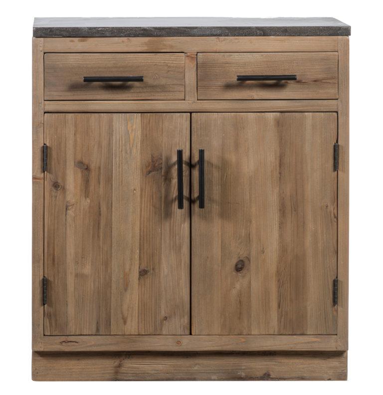Keukenkast in old pine natuur met 2 lades en 2 deuren - Lade - Landelijke meubels en verlichting - Sarah Mo