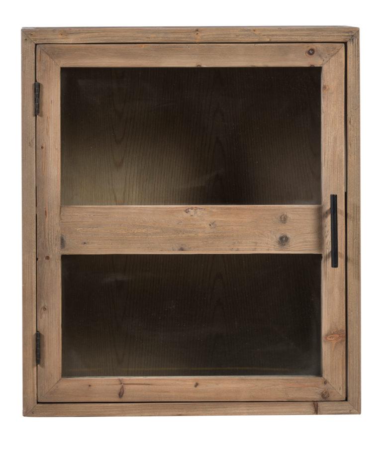 Hangkast in old pine natuur met 1 deur in glas - Keukenkast - Landelijke meubels en verlichting - Sarah Mo