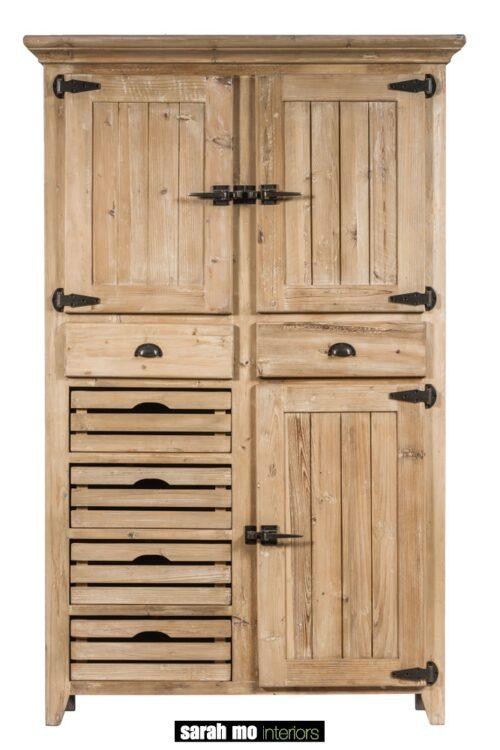 Keukenkast in old pine olive green - Keuken - Landelijke meubels en verlichting - Sarah Mo