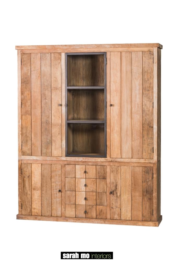 Vitrinekast met 3 deuren - Kast - Landelijke meubels en verlichting - Sarah Mo