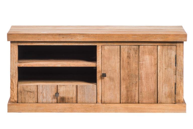Klein tv-dressoir met 1 deur en 1 lades - Meubilair - Landelijke meubels en verlichting - Sarah Mo