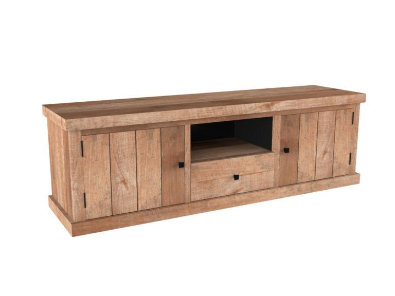 Groot tv-dressoir met 2 deuren en 1 lade - Dressoir - Landelijke meubels en verlichting - Sarah Mo