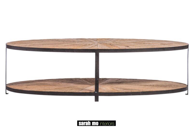 Ovale salontafel in gerecycleerde eik - Salontafel - Landelijke meubels en verlichting - Sarah Mo