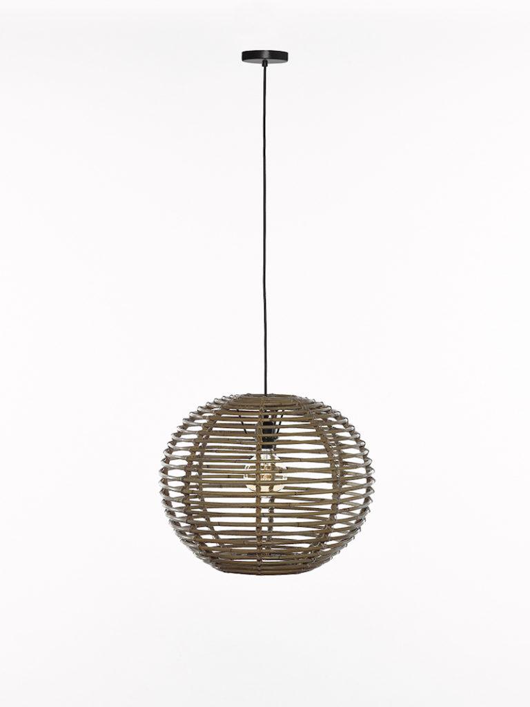 QUIN SMALL GREY RATAN - Lichtpunt - Landelijke meubels en verlichting - Sarah Mo