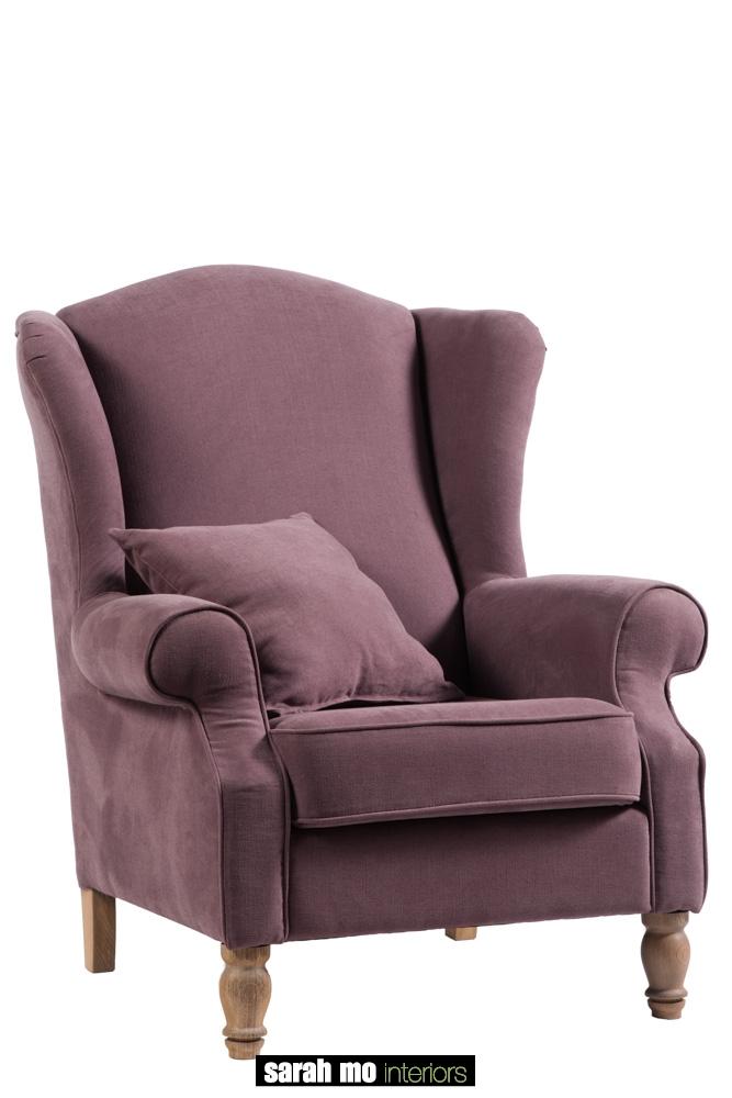 Armfauteuil in diverse bekledingen en pootkleuren mogelijk - Bankstel - Landelijke meubels en verlichting - Sarah Mo