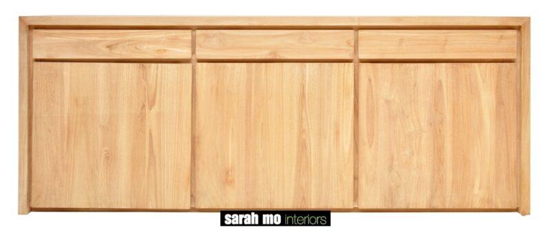 Dressoir in teak met 3 deuren en 3 lades - Dressoir - Landelijke meubels en verlichting - Sarah Mo