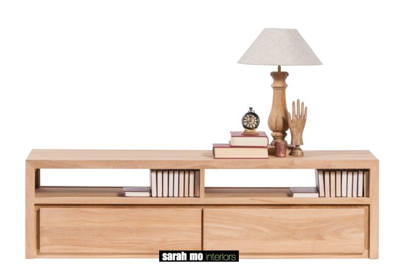 Tv-dressoir in teak met 2 lades - Meubilair - Landelijke meubels en verlichting - Sarah Mo