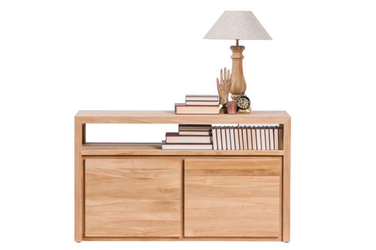 Tv-dressoir in teak met 2 deuren - Tafel - Landelijke meubels en verlichting - Sarah Mo