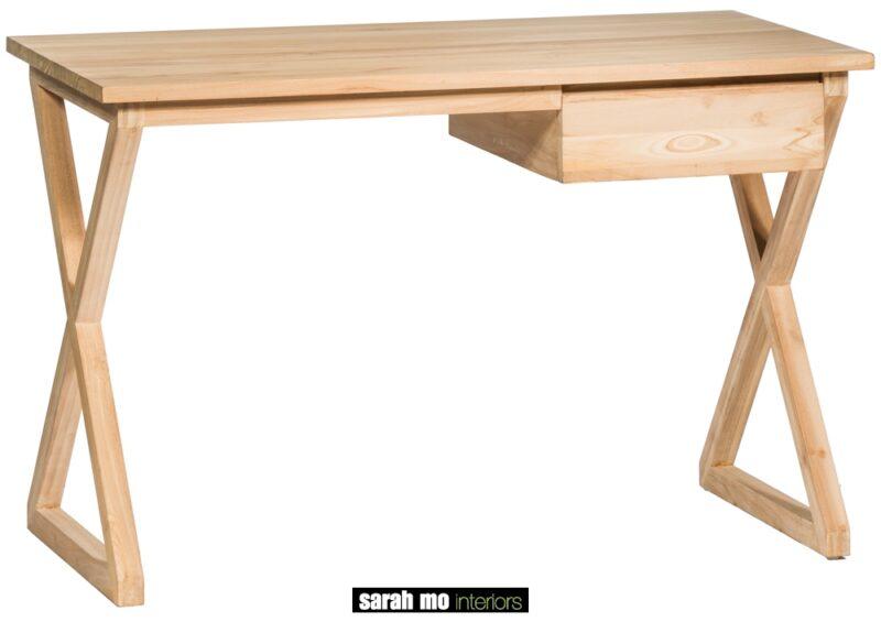 Bureau in teak met 1 lade - Rechthoek - Landelijke meubels en verlichting - Sarah Mo