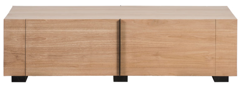 Salontafel in teak met 2 lades - Nachtkastje - Landelijke meubels en verlichting - Sarah Mo