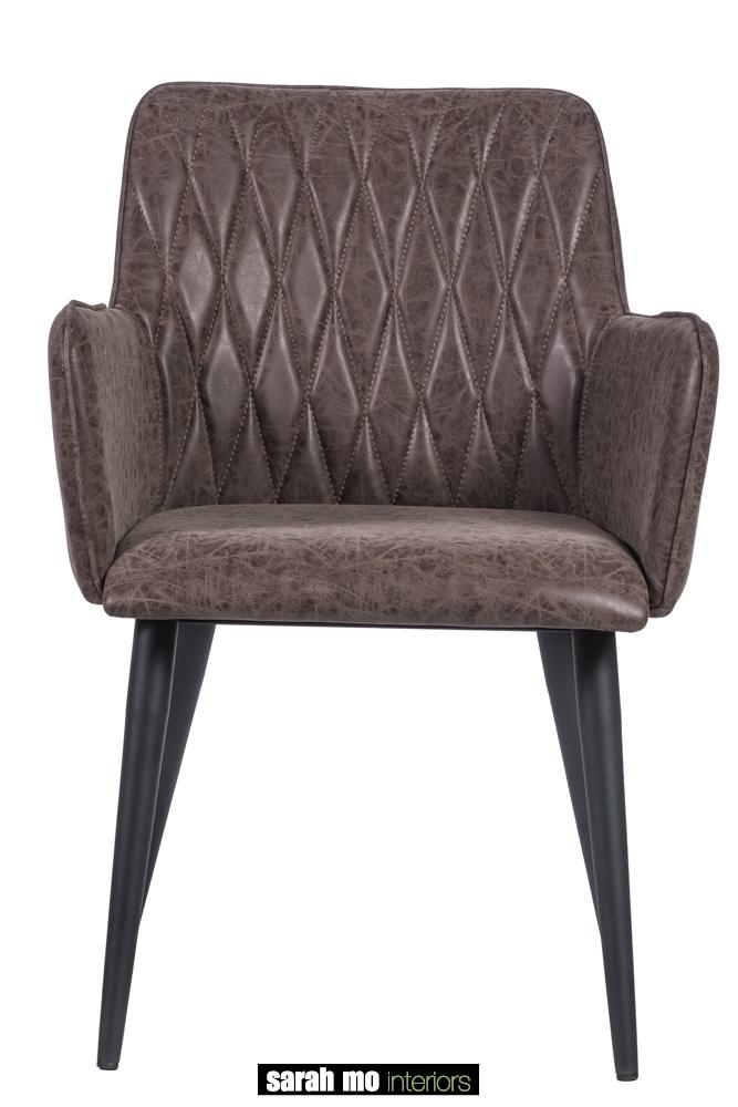 Armstoel in microvezel - Stoel - Landelijke meubels en verlichting - Sarah Mo